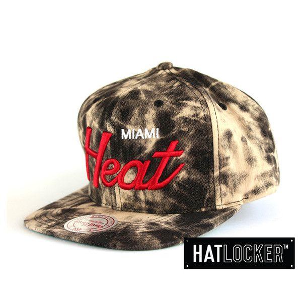 Miami Heat Dyed Denim Snapback by Mitchell & Ness | Find it at www.hatlocker.com