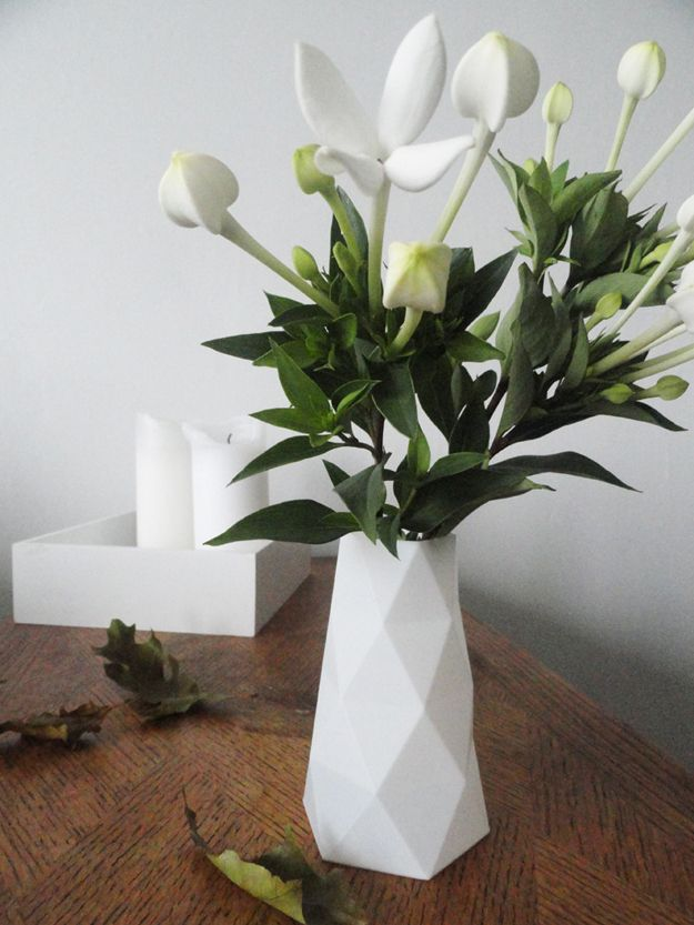 Faceted vase 3D-print  | © Sas' Styling Blog
