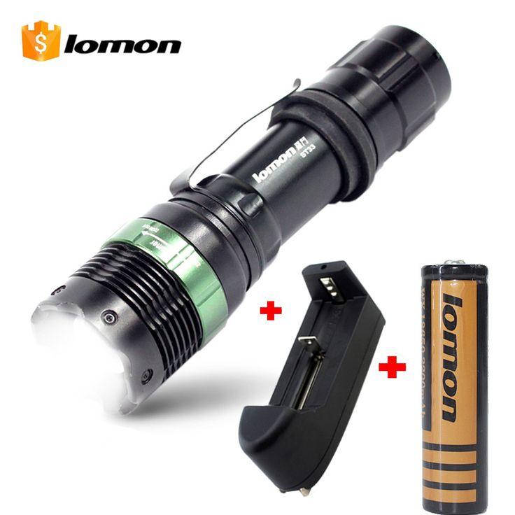 Lomon g700 3000lm cree q5 wiederaufladbare polizei taktische taschenlampe aluminium aaa led taschenlampe 18650 + ladegerät + batteriehalter