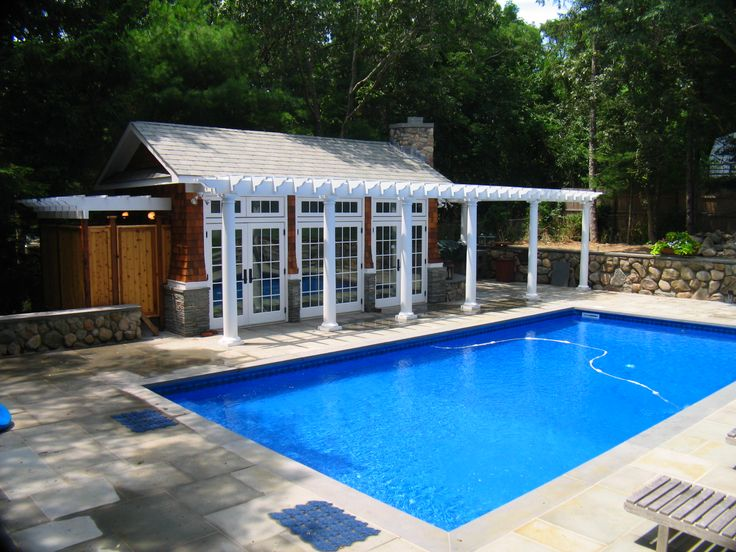 17 best images about pool decor on pinterest pool houses for Pool houses and cabanas