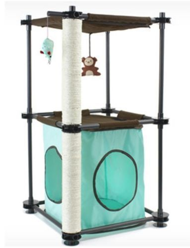 CAT houses for indoor cats tree house playground scratchingpost tower 2 tier NEW