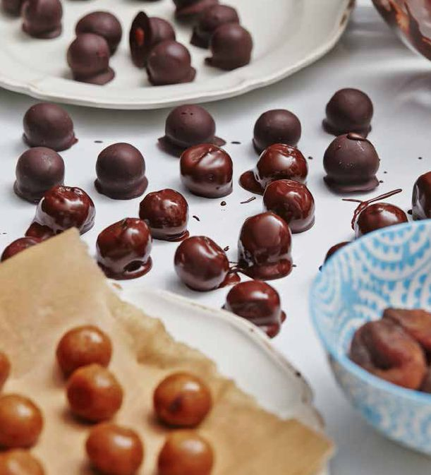 Salted Apricot Caramels