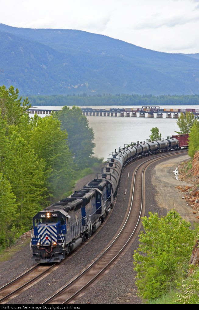 RailPictures.Net Photo: MRL 329 Montana Rail Link EMD SD45-2 at Sandpoint, Idaho by Justin Franz
