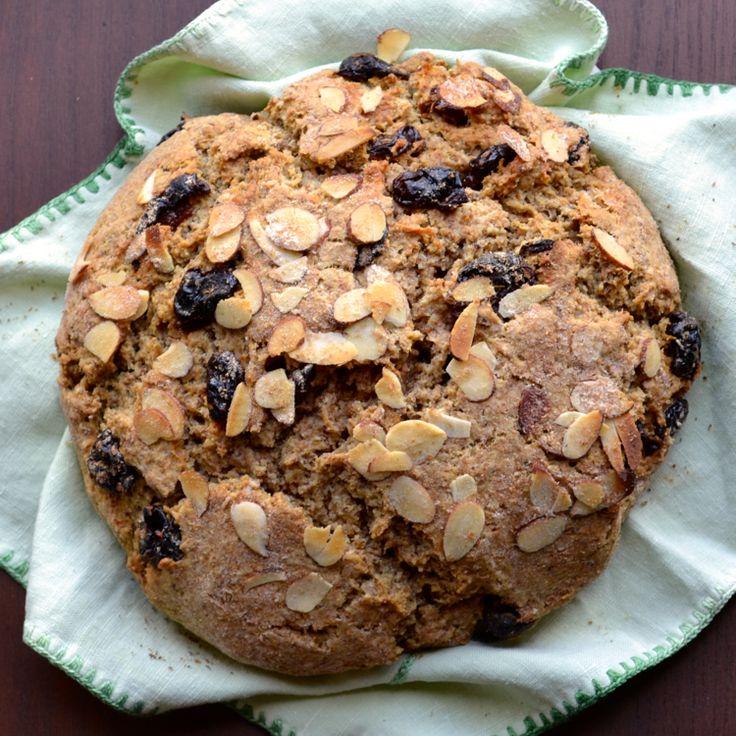 Cherry Almond Soda Bread (Vegan) | taste love and nourish