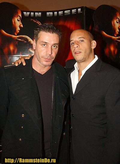 Till Lindemann with Vin Diesel  Oh... Can't get much better