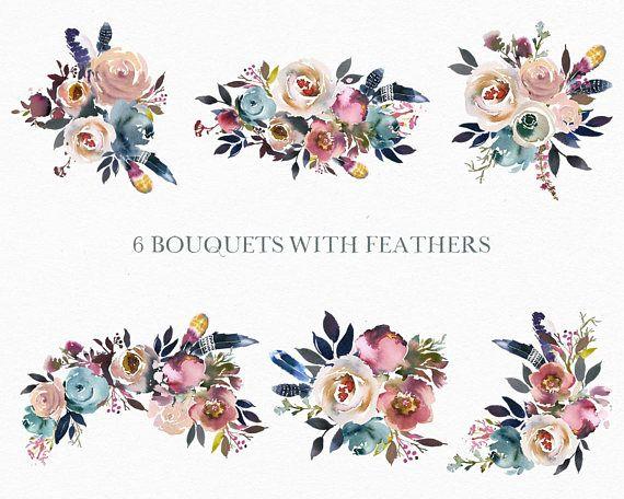 Pierre Aquarelle Fleurs Numerique Png Clipart Bouquets Pivoines