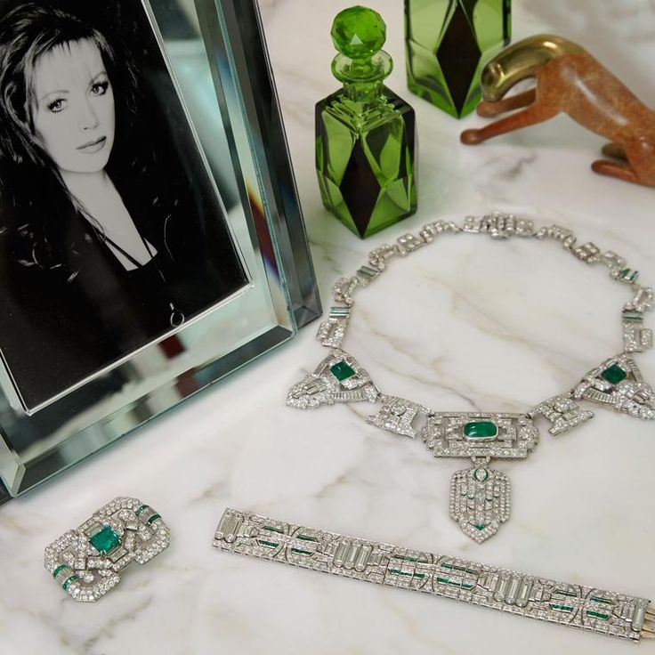 Going under the hammer are Jackie Collins' jewels, which show a penchant for the Art Deco style as well as Cartier's panther. The jewellery of Jackie Collins that went up for auction. Iconic in style and design these vintage and antique jewels were much loved from her estate. http://www.thejewelleryeditor.com/whats-on/auctions/jackie-collins-auction-jewelry-bonhams/ #jewelry
