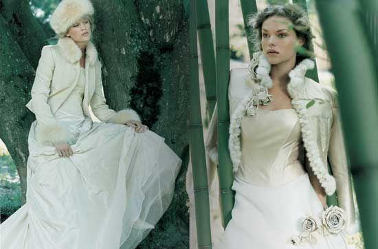 abito sposa inverno 3 Labito da sposa dinverno: i più bei vestiti per le nozze invernali 2010 11
