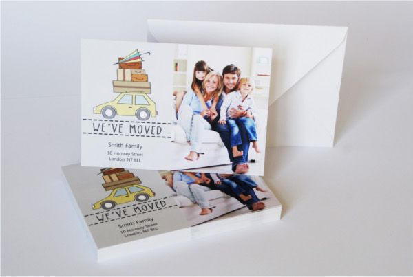 moving home cards template - 10 best change of address cards photo templates images on