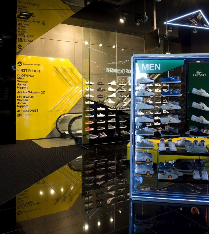 Sports Store | Retail Design | Shop Interior | Sports Display | JD store by Briggs Hillier, Birmingham