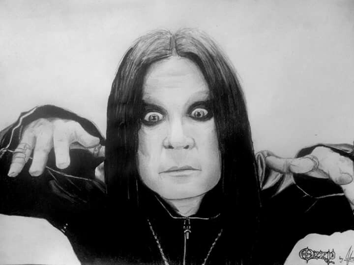 Ozzy Osbourne pencil drawing portrait
