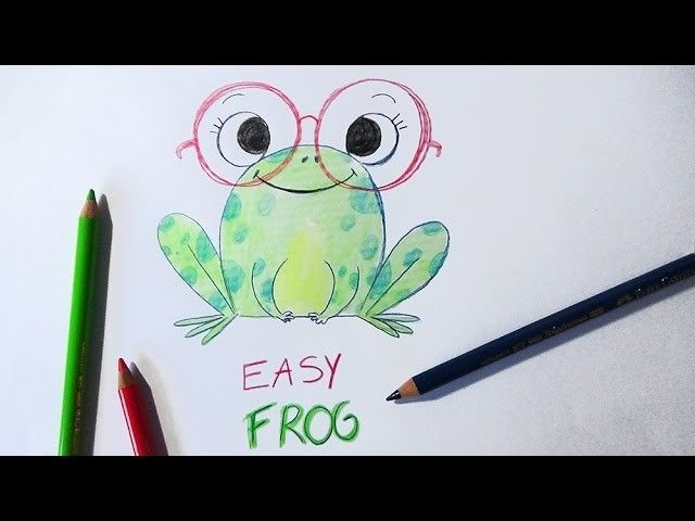 HOW TO DRAW A FROG (EASY WAY). COMMENT DESSINER UNE GRENOUILLE FACILEMENT
