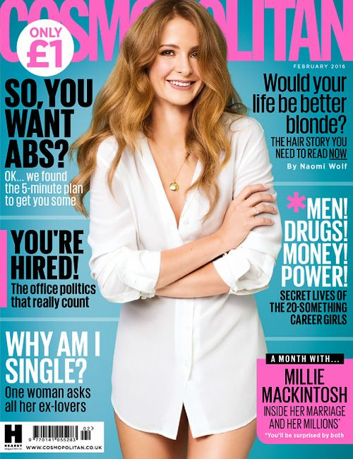 Now this is what I call an exciting cover girl. I will definitely be getting my hands on this Cosmopolitan issue. I am excited to see Millie Mackintosh on it, if you watch Made in Chelsea, then you...