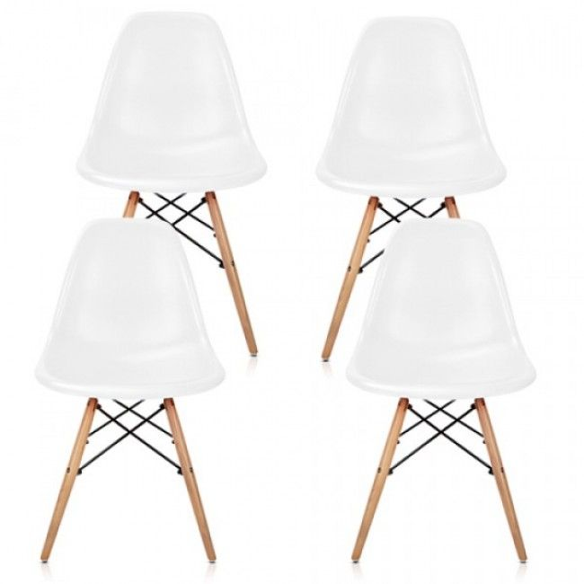 Set of 4 Replica Eames Eiffel DSW Dining Chair   White This set of Replica  Eames DSW Eiffel Dining Side Chairs is stylish and comfortable to seat on 355 best Furniture  tables  textiles and lamps images on Pinterest  . Set Of 4 Replica Eames Eiffel Dsw Dining Chair White. Home Design Ideas