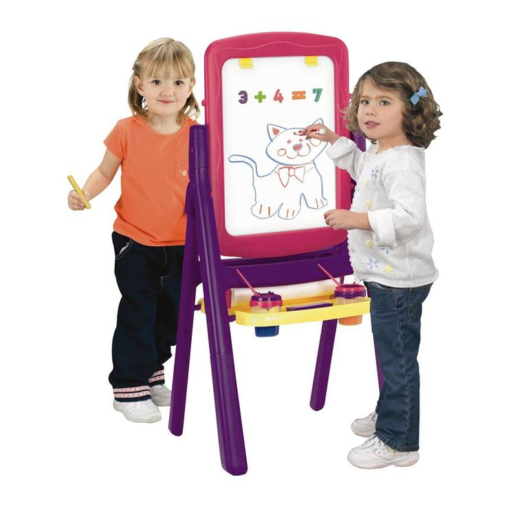 """Imaginarium 2 Sided Qwik Flip Easel - Pink 