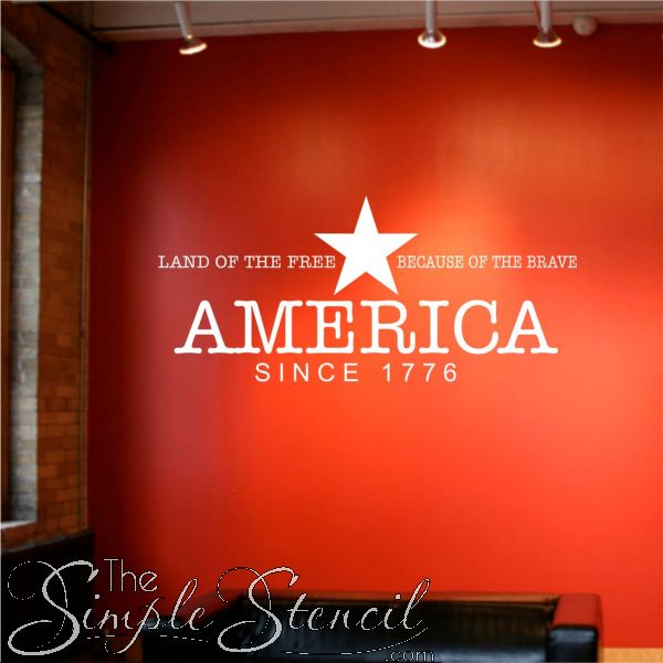 Best Patriotic Themed Wall Art Images On Pinterest Vinyl Wall - Custom vinyl wall decals for classrooms