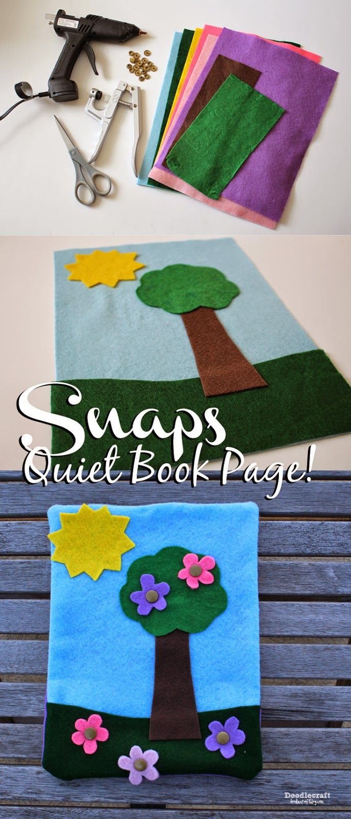 Books on felt crafts - Felt Quiet Book With Snaps