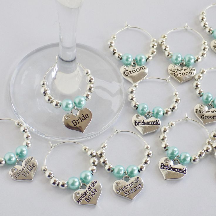 Wine Charms Personalised, Wine Charms Etsy, Wine Charms as Wedding Favours, Wine Charms Bridal Showers, Wine Glass Charms Etsy, Wine Charms