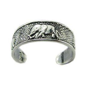 Elephant Silver Toe Ring