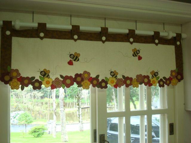 Bandô para cortina de cozinha