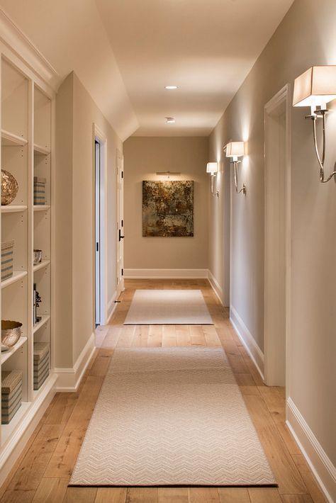 This wall color is Benjamin Moore Alaskan Skies 972.  Hendel Homes. Vivid Interior Design – Danielle Loven.
