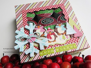 K-cup gift box: Gifts Cards, K Cups Gifts, Soups Weeks Day, Pizza Boxes, Virginia Scrappy, Jillibean Soups, Gifts Boxes, Window Boxes, Scrappy Places
