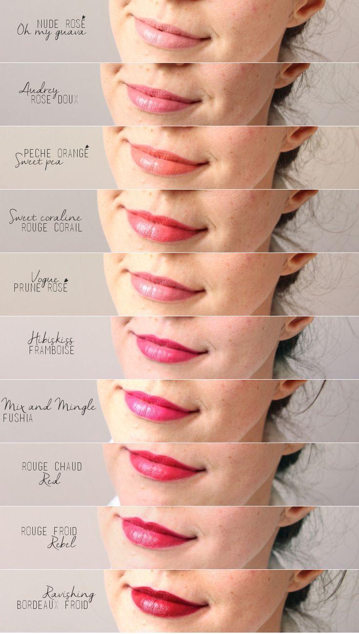 swatch red apple lipstick