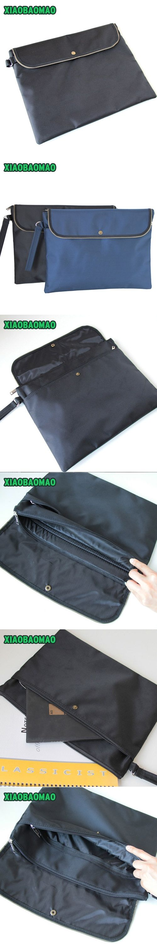 A4 Document bag simple Business office bill / note / file folder / bag / pouch with Snap button Cell phone pocket flat briefcase