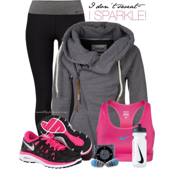 """Nike Gym Sweat Towel: """"I Don't Sweat..."""" By Casuality On Polyvore"""