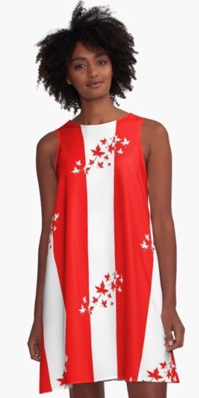 O Canada design is extremely popular for Canada Day. #Canada150 There are 13 leaves to represent all 10 Provinces and 3 Territories that make up this great country from coast to coast. Available on tshirts, pillows, apparel, tote bags, dresses, skirts, journals, and so much more.