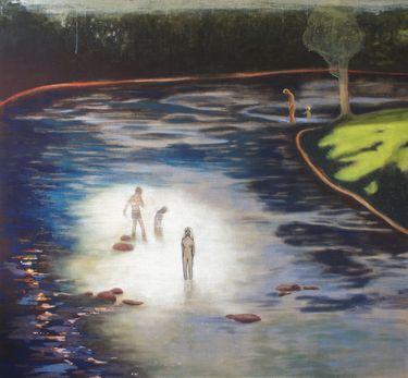 "Saatchi Online Artist June Sira; Painting, ""The River"" #art #LisaSalzer"