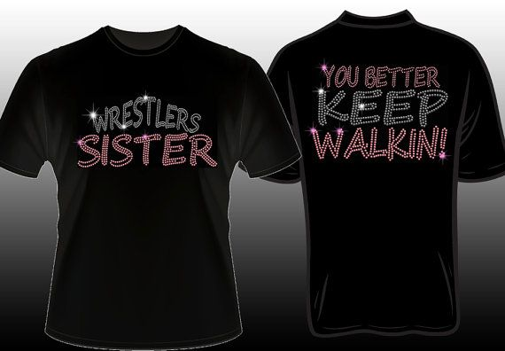 Spangle bling #wrestling shirts #wrestlingsister https://www.etsy.com/listing/207936680/wrestling-sister-spangle-bling-shirt