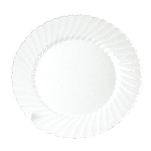 """Classicware 10.25"""" Plastic Plate in White by WNA Comet. $79.99. Plates. Classicware® Dinnerware. White 10.25-in.*. CW10144W Features: -Plate.-Material: Plastic.-Creates the elegance of China.-Beauty combined with the ease of a disposable.-Adds a touch of grace to any occasion.-8 Per pack.-Diameter: 10.25''. Color/Finish: -Color: White."""