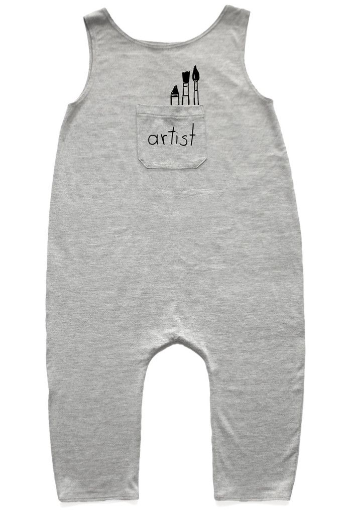 Our super soft and comfy, spandex/rayon, unisex romper is roomy with just the…