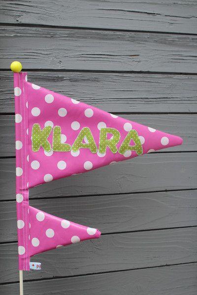 Weiteres - Fahrradwimpel  / Wimpel für Kinderfahrrad mit Name - ein Designerstück von PilzArt bei DaWanda