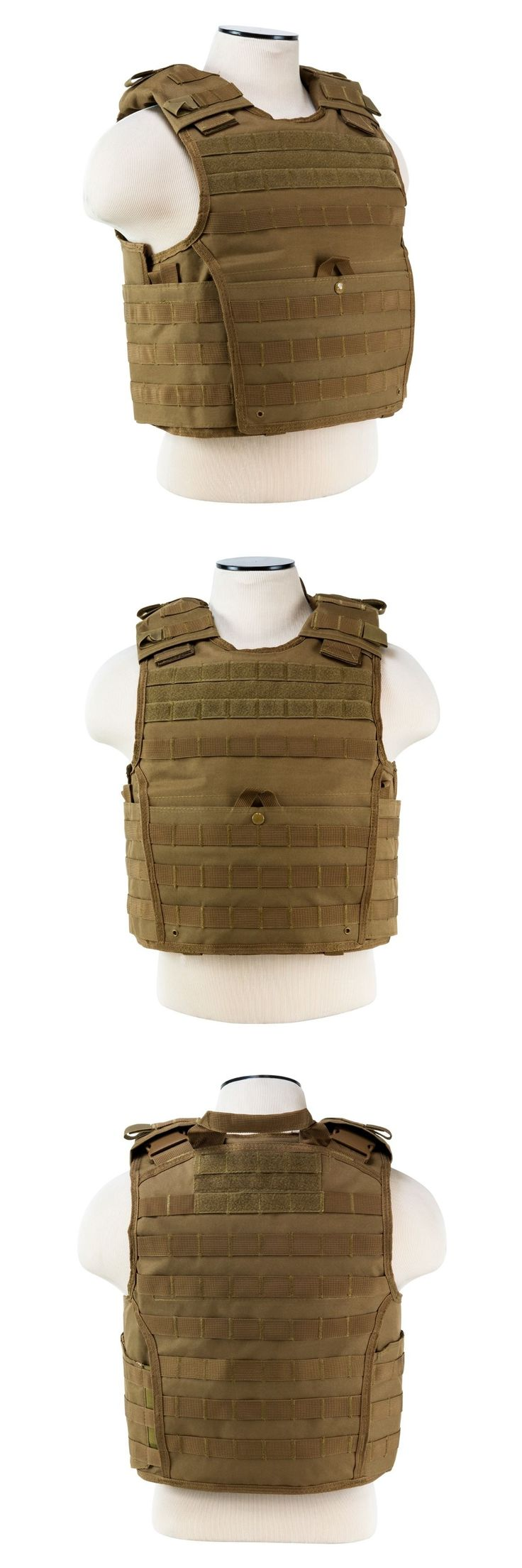 Chest Rigs and Tactical Vests 177891: Ncstar Vism Tan Tactical Molle Operator Plate Carrier Body Armor Chest Rig Small -> BUY IT NOW ONLY: $39.85 on eBay!