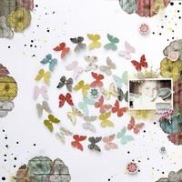 by Aleksandra Gadji: Galleries Originals,  Hankey, Butterflies, Scrapbook Galleries, A Scrap Layout, Scrapbook Layout,  Hanky, Inspiration Scrapbook Etc, Aleksandra Gadji