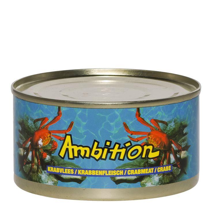 Ambition Crabmeat  Ambition Crabmeat - krabvleesAmbition crabmeat oftewel krabvlees uit Thailand heeft een inhoud van 170 gram en is voorgekookt. In de Aziatische keuken wordt het vooral gebruikt voor in een zeevruchten soep zoals de bekende originele haaievinnensoep met krabvlees.Het is een veelzijdig product en vooral als je persoonlijk van vis en schelpdieren houdt kan je het toepassen je het overal toepassen. Of je het gerecht nu gaat stomen roerebakken of frituren. Zie voor andere…