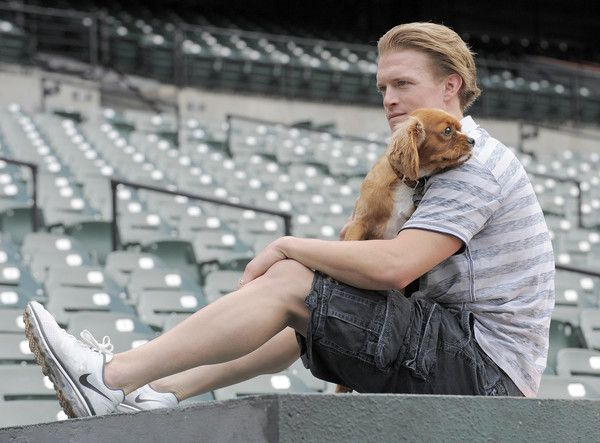 Nate McLouth with his dog Lexi.