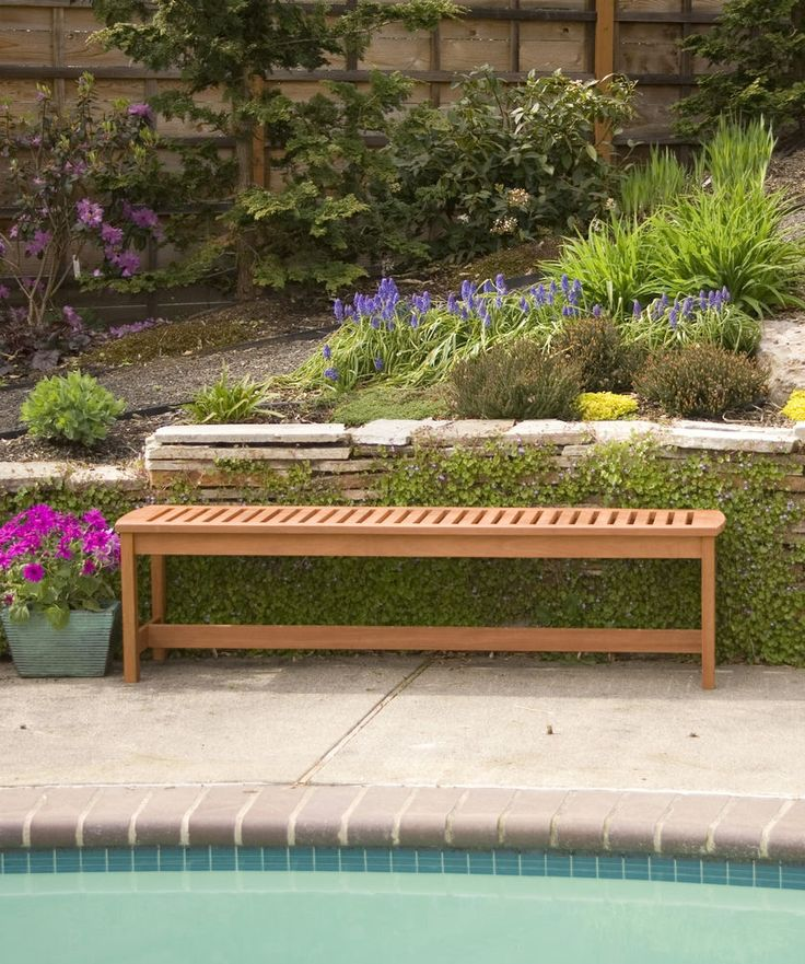 Outdoor Bench 5 Long Wood Bench Backless Gardener s Supply