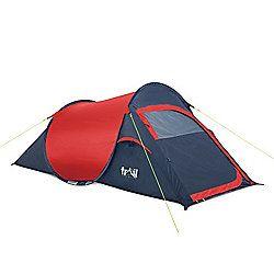 'The Original' Pop Up 2 Man Tent Red http://campingtentslovers.com/best-camping-tent-review/