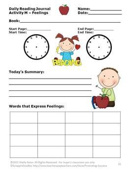 A- Z Reading Response Journal Set of 26 -- These reading response journal pages may be used with any book! There are 26 different pages focusing on Common Core skills: Activity A - Predictions Activity B - Favorite Part Activity C - Favorite Character Activity D – Timeline Activity E – Conflict Activity F – Setting Activity G – Character Comparison and MORE!