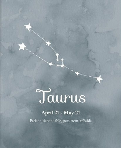 Taurus ~ patient, dependable, persistent, reliable                              …