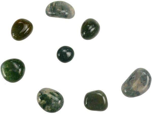 Moss Agate Tumbled Stones 1lb GTMOSAB
