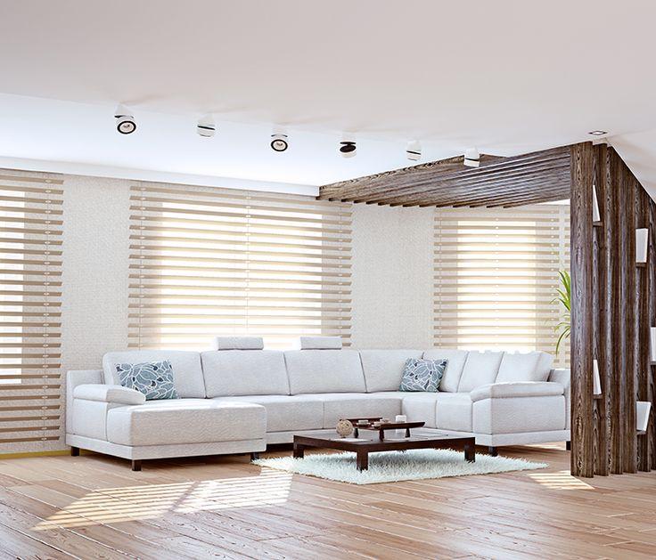 Puedes implementar más persianas y menos cortinas para conectar el exterior con el interior.#nuestroladodeco #diseño #deco #decoracion #ecologico #modernidad #arquitectura