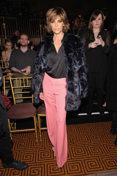 Lisa Rinna Fur Coat - Lisa Rinna arrived for the Sherri Hill fashion show looking fabulous in a fur coat.