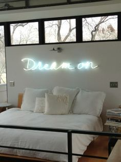 neon sign above bed - Google Search:
