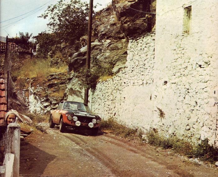 Lancia Fulvia, Targa Florio 1971. Look at the little lady on the left.