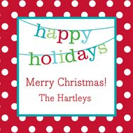 Banner Happy Holidays Gift Stickers