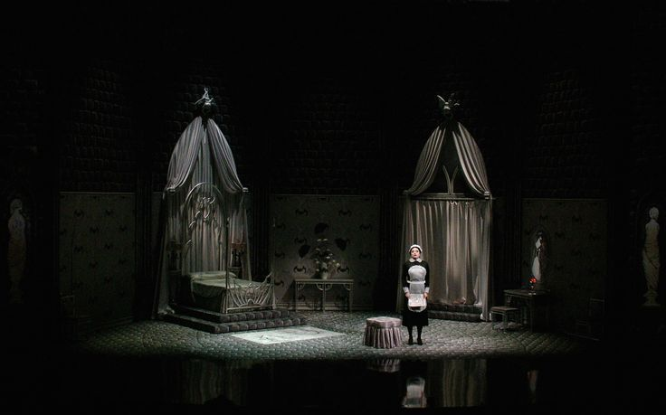Edward Gorey's Dracula. Scenic design by Edward Gory. Lighting by David Lander.